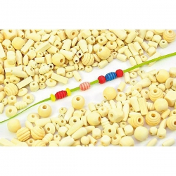 Drevené prírodné perličky 250 g