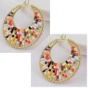 Náušnice s pestrofarebnými perličkami