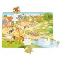 Puzzle roľnícky dvor