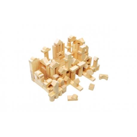 Drevené kocky 100 kusov