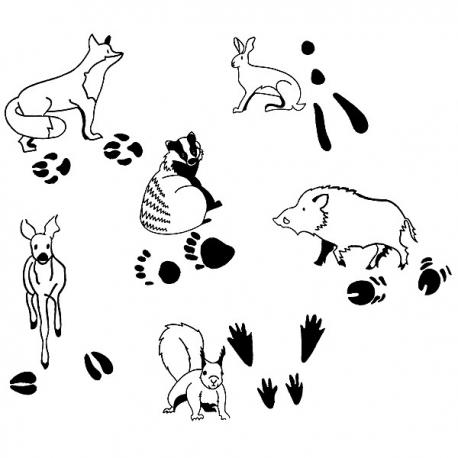 """Sada pečiatok """"Zvieratká a ich stopy"""""""