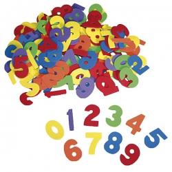 Číslice z penovej gumy