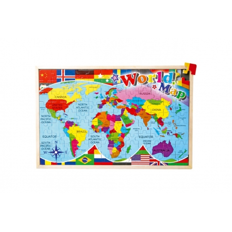 """Drevené puzzle """"Mapa sveta"""""""
