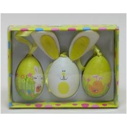 Sada 3 vajíčok zajko