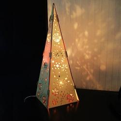 Drevený stromček osvetlený 40 cm
